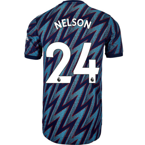2021/22 adidas Reiss Nelson Arsenal 3rd Authentic Jersey