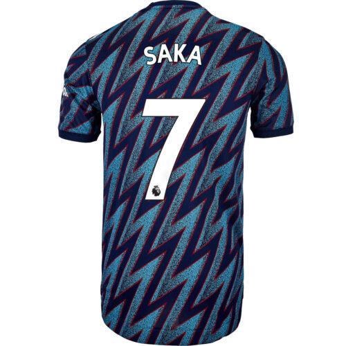 2021/22 adidas Bukayo Saka Arsenal 3rd Authentic Jersey