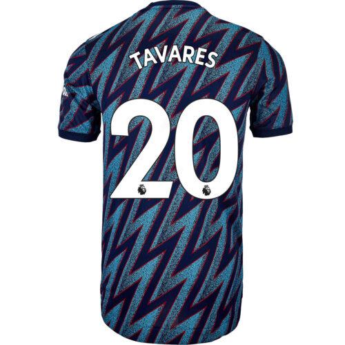 2021/22 adidas Nuno Tavares Arsenal 3rd Authentic Jersey
