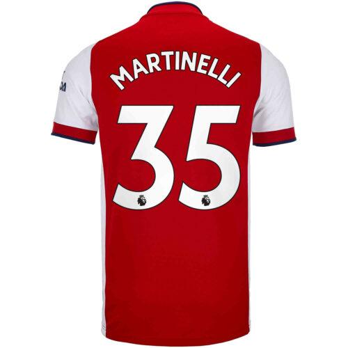 2021/22 adidas Gabriel Martinelli Arsenal Home Jersey