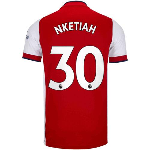 2021/22 adidas Eddie Nketiah Arsenal Home Jersey