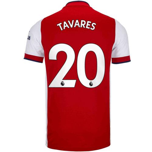 2021/22 adidas Nuno Tavares Arsenal Home Jersey