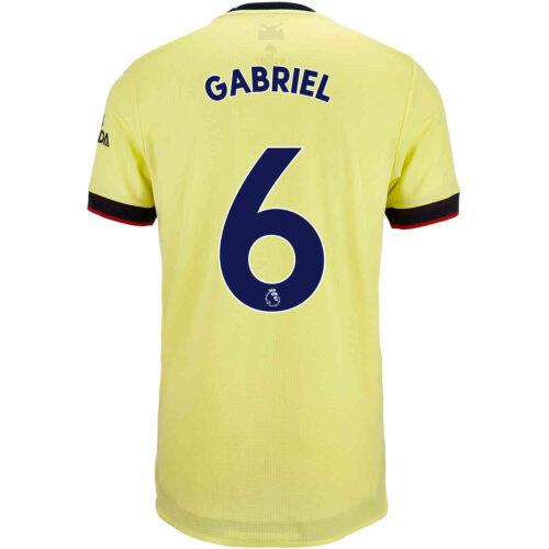 2021/22 adidas Gabriel Arsenal Away Authentic Jersey