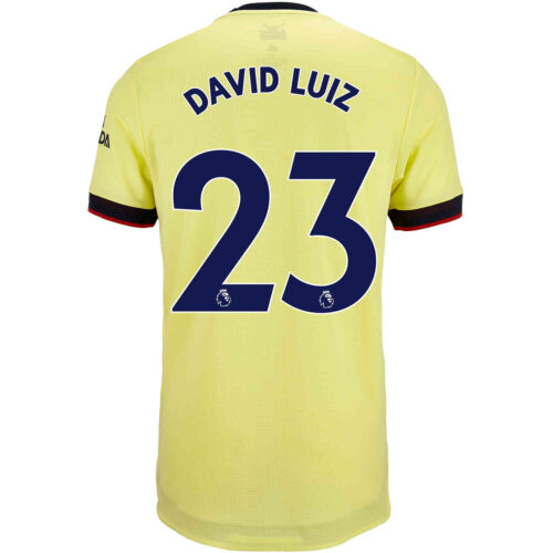 2021/22 adidas David Luiz Arsenal Away Authentic Jersey