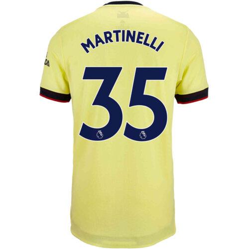 2021/22 adidas Gabriel Martinelli Arsenal Away Authentic Jersey