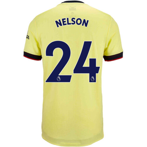 2021/22 adidas Reiss Nelson Arsenal Away Authentic Jersey
