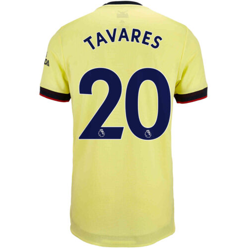 2021/22 adidas Nuno Tavares Arsenal Away Authentic Jersey