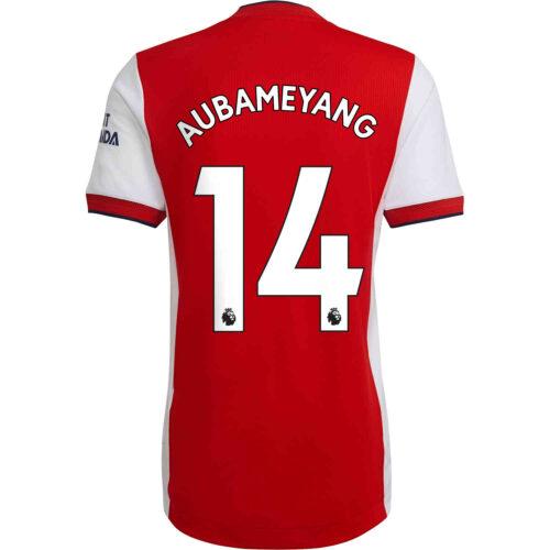 2021/22 adidas Pierre-Emerick Aubameyang Arsenal Home Authentic Jersey
