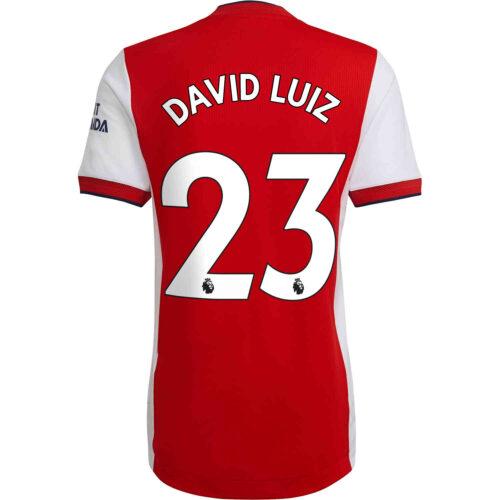 2021/22 adidas David Luiz Arsenal Home Authentic Jersey