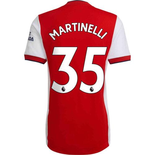 2021/22 adidas Gabriel Martinelli Arsenal Home Authentic Jersey