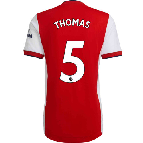 2021/22 adidas Thomas Partey Arsenal Home Authentic Jersey