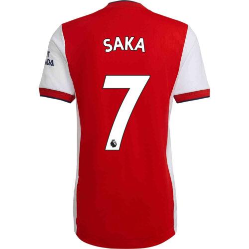 2021/22 adidas Bukayo Saka Arsenal Home Authentic Jersey
