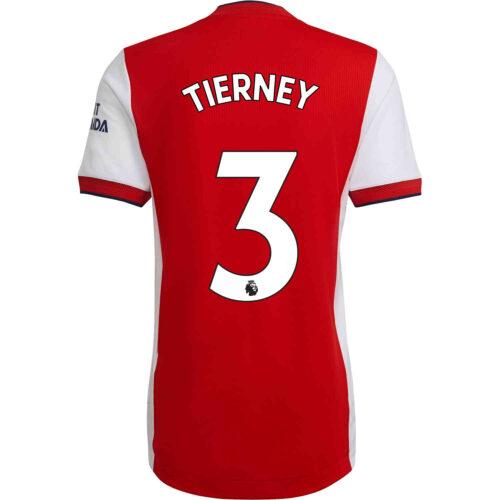 2021/22 adidas Kieran Tierney Arsenal Home Authentic Jersey