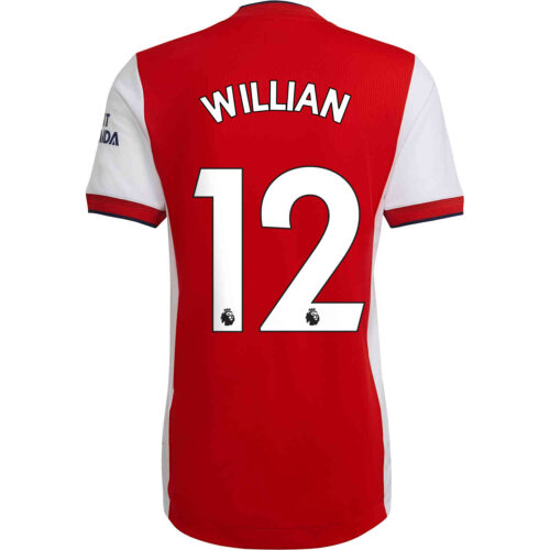 2021/22 adidas Willian Arsenal Home Authentic Jersey