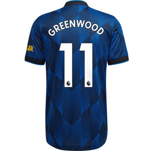 2021/22 adidas Mason Greenwood Manchester United 3rd Authentic Jersey