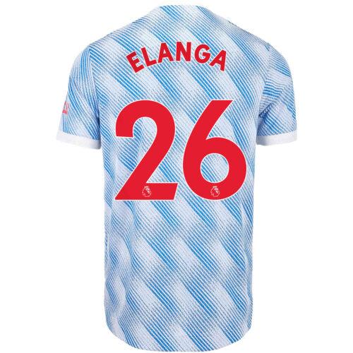 2021/22 adidas Anthony Elanga Manchester United Away Authentic Jersey