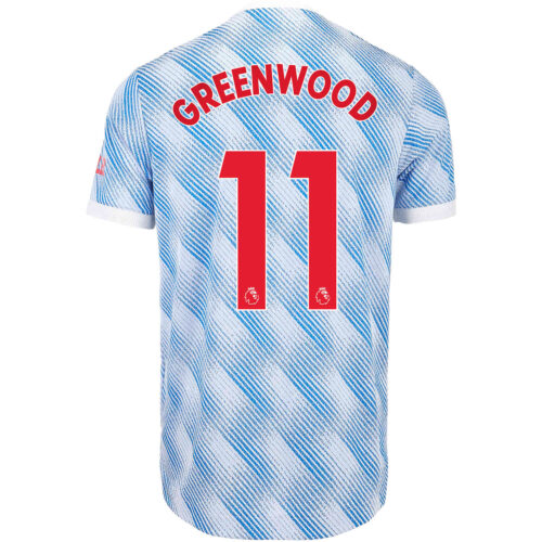 2021/22 adidas Mason Greenwood Manchester United Away Authentic Jersey