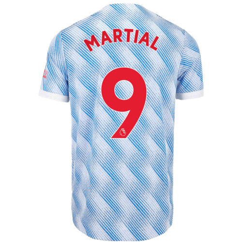 2021/22 adidas Anthony Martial Manchester United Away Authentic Jersey