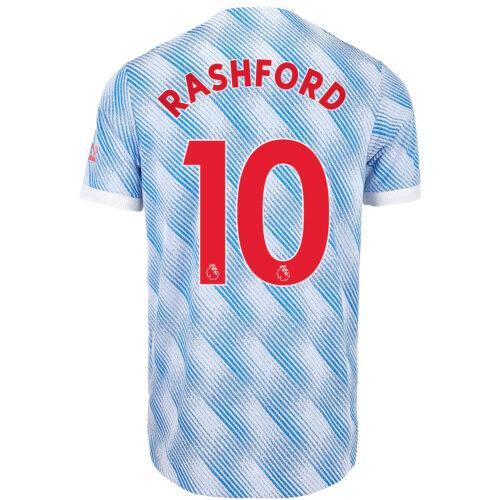 2021/22 adidas Marcus Rashford Manchester United Away Authentic Jersey