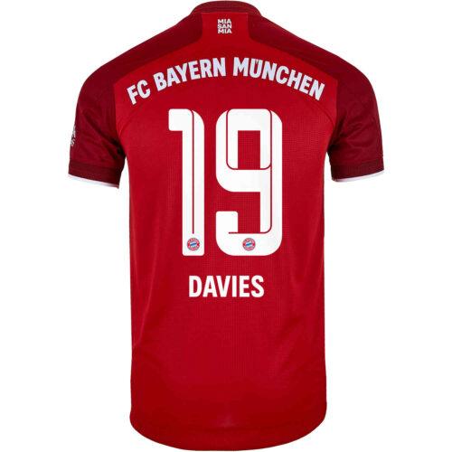 2021/22 adidas Alphonso Davies Bayern Munich Home Authentic Jersey