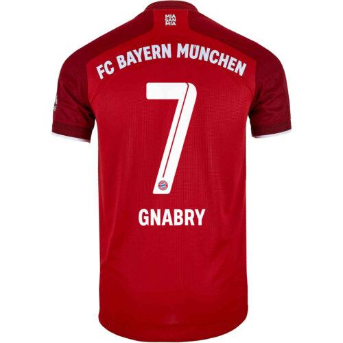 2021/22 adidas Serge Gnabry Bayern Munich Home Authentic Jersey