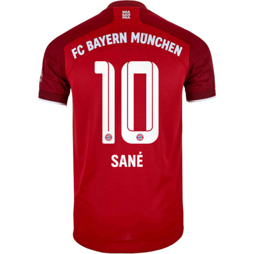 2021/22 adidas Leroy Sane Bayern Munich Home Authentic Jersey