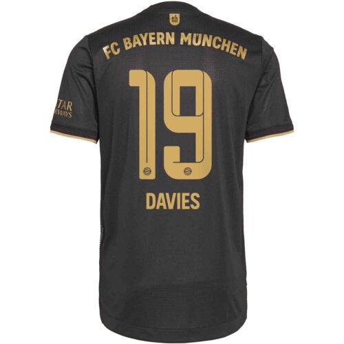 2021/22 adidas Alphonso Davies Bayern Munich Away Authentic Jersey