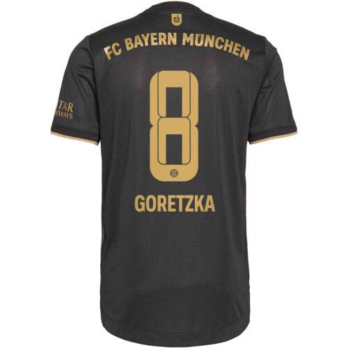 2021/22 adidas Leon Goretzka Bayern Munich Away Authentic Jersey