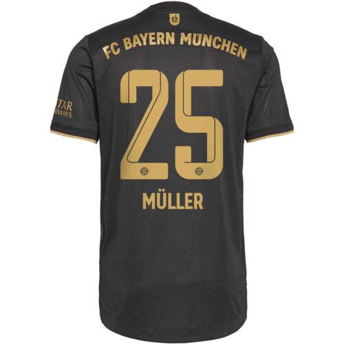 2021/22 adidas Thomas Muller Bayern Munich Away Authentic Jersey