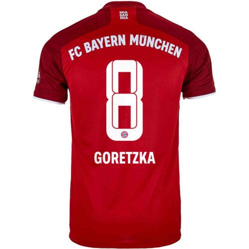 2021/22 adidas Leon Goretzka Bayern Munich Home Jersey