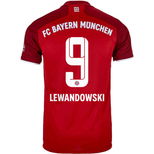 2021/22 adidas Robert Lewandowski Bayern Munich Home Jersey