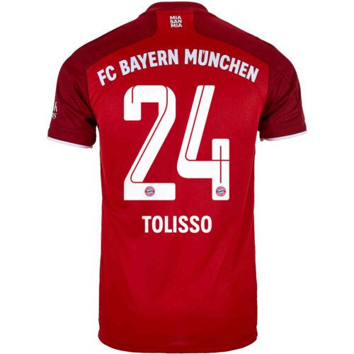 2021/22 adidas Corentin Tolisso Bayern Munich Home Jersey