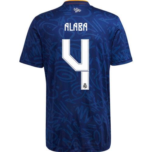 2021/22 adidas David Alaba Real Madrid Away Authentic Jersey