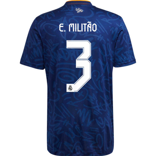 2021/22 adidas Eder Militao Real Madrid Away Authentic Jersey