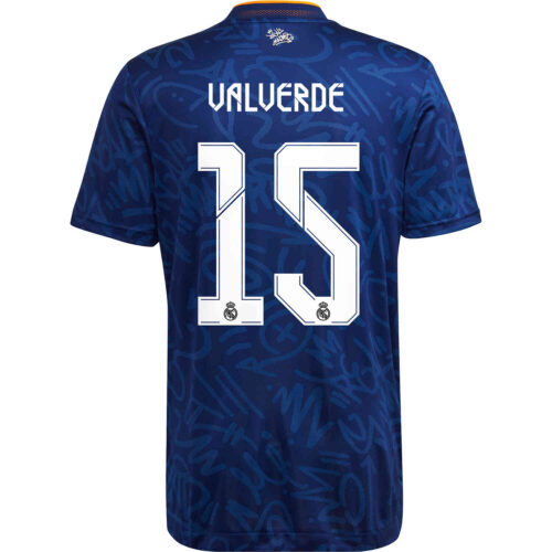 2021/22 adidas Federico Valverde Real Madrid Away Authentic Jersey