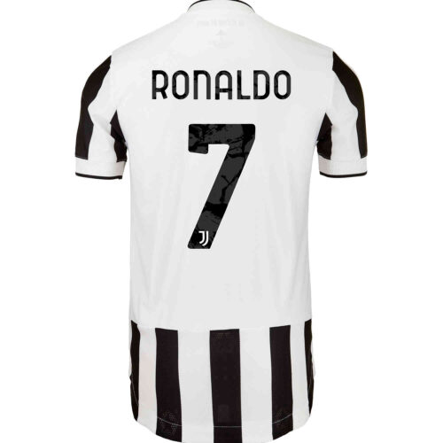 2021/22 adidas Cristiano Ronaldo Juventus Home Authentic Jersey