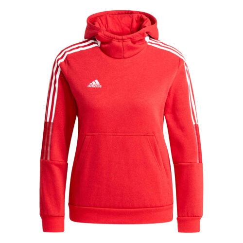 Kids adidas Tiro21 Fleece Hoodie – Power Red