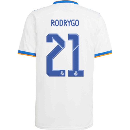 2021/22 adidas Rodrygo Real Madrid Home Jersey