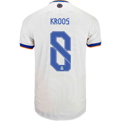 2021/22 adidas Toni Kroos Real Madrid Home Authentic Jersey