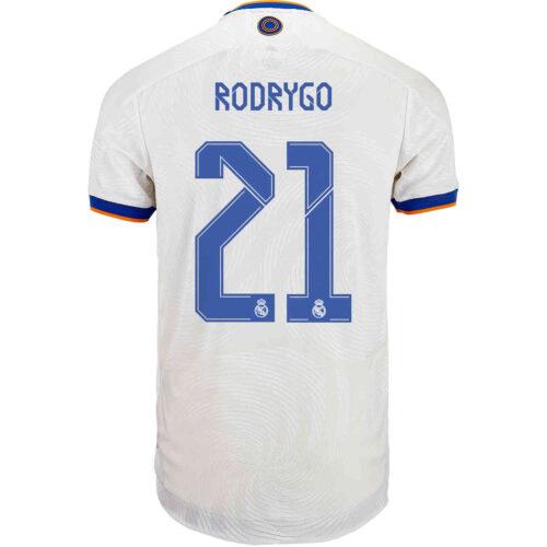 2021/22 adidas Rodrygo Real Madrid Home Authentic Jersey
