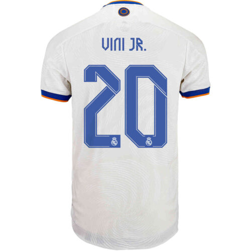 2021/22 adidas Vinicius Jr Real Madrid Home Authentic Jersey