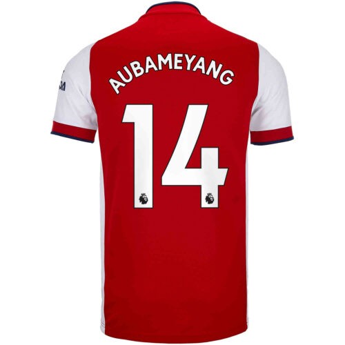 2021/22 Kids adidas Pierre-Emerick Aubameyang Arsenal Home Jersey