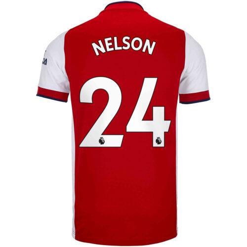 2021/22 Kids adidas Reiss Nelson Arsenal Home Jersey