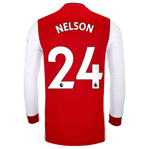 2021/22 adidas Reiss Nelson Arsenal L/S Home Jersey