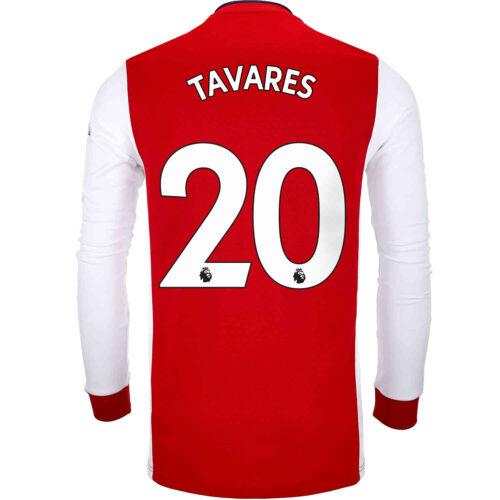 2021/22 adidas Nuno Tavares Arsenal L/S Home Jersey