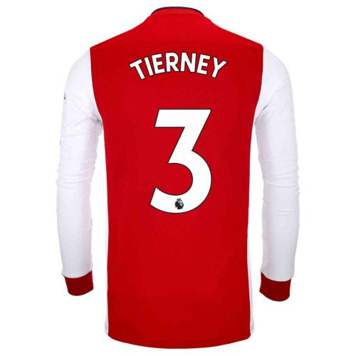 2021/22 adidas Kieran Tierney Arsenal L/S Home Jersey