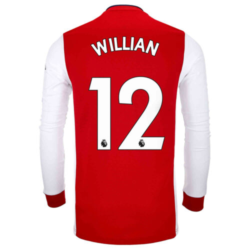 2021/22 adidas Willian Arsenal L/S Home Jersey