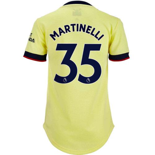 2021/22 Womens adidas Gabriel Martinelli Arsenal Away Jersey