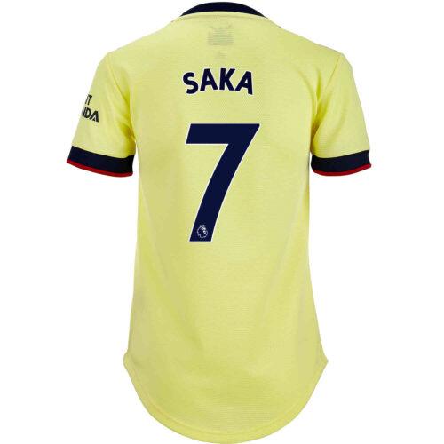2021/22 Womens adidas Bukayo Saka Arsenal Away Jersey