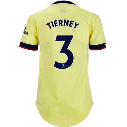 2021/22 Womens adidas Kieran Tierney Arsenal Away Jersey